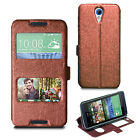For HTC Desire 620 Slim Wallet Case Leather Flip Stand Cover + Screen Protector