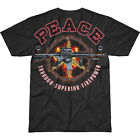 7.62 DESIGN PEACE THROUGH SUPERIOR FIREPOWER BATTLESPACE T-SHIRT MENS COTTON TOP