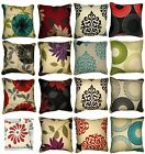 "New Cushion Cover Floral Printed Panama Cushion Covers Only 18""x18"" 20 Colours"