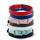 """REAL LEATHER PLAIN DOG COLLAR - 14""""-16"""" NECK SIZE"""
