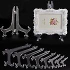 Plastic Clear Display Easel Stand Fossils Picture Frame Books Photo Holder Rack