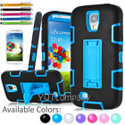 Hybrid Rugged Rubber Defender Hard Stand Case Cover For Samsung Galaxy S4 I9