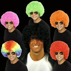 Choice of Adult Color Afros 70s 80s Retro Circus Clown Fun Afro Hair Costume Wig
