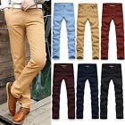 Top Design Mens Long Straight Summer Formal Trousers Casual Skinny Pants Bottoms