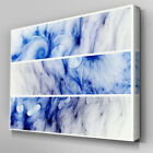 AB134 Blue Purple Abstract Canvas Wall Art Ready to Hang Picture Print