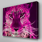A072 Pink Neon Leopard Canvas Art Ready to Hang Picture Print