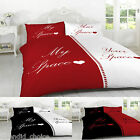 DUVET COVER WITH PILLOW CASE QUILT COVER BEDDING SET SINGLE DOUBLE  KING TOP Q