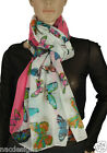 Womens Cool Soft Feel Butterfly Print Scarf, Sarong, Hijab