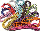 Cord Cords Necklace Leather Braided ALL COLORS Lobster Clasp 3mm, 5 or 10 Qty