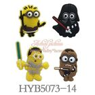 4PCS Minions Despicable Me Fridge Magnets, Magnetic Stick, Blackboard Sticker Gift