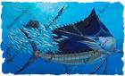 High Quality Vinyl Fish Decal Sailfish Baitball