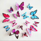 Sticker Art Design 3D Butterfly  Decal Wall Stickers Home Decor Room Decorations
