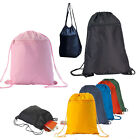 Внешний вид - Drawstring Unisex Backpack Tote Sock Sack Pack Nylon Bag Dual Drawstrings