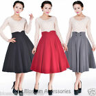 RK101 Full Circle Retro Work Flared Skirt Pin Up Mod Rockabilly 50s Swing Dance