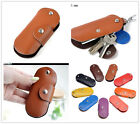 Pod shaped Women Men Genuine Leather Key Bag Key holder chain Car Keyring