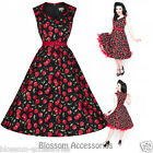 RKB16 Lindy Bop Xandra Red Cherry Pin Up Party Rockabilly Vintage Swing Dress
