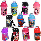 Disney & Character Pop-Up Drink Bottle with Lanyard - 10 Designs Back to School
