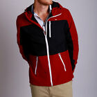 New Mens St GOLIATH HUDSON RED thick long sleeve jacket with hoody
