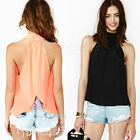 2015 Women Summer Loose Casual Chiffon Sleeveless Vest Shirt Tops Blouse Ladies