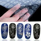 108pcs 3D Silver Nail Art Stickers Decals Stamping Nail Tips Decoration Tools