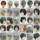 *35 Style * Fashion Short Multicolor Curly Bangs Heat Resistant Hair Cosplay Wig