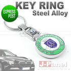 CHROME STEEL ALLOY KEY RING FOB KEYCHAIN FIT for ALL BMW M POWER CAR INTERIOR