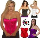 SATIN BASQUE CORSET 80's  FANCY DRESS  tutu SIZE 6-18