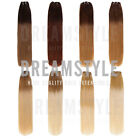 Half Head Dip Dye Ombre Clip in Remy Human Hair Extensions