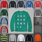 ABERCROMBIE KIDS BOYS LONG SLEEVE SHIRT NWT ALL SIZES ALL COLORS white blue New