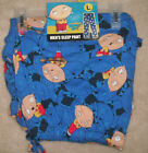 "NEW MENS ""FAMILY GUY STEWIE GRIFFIN FACES"" COTTON LOUNGE SLEEP PJ PAJAMA PANT"