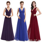 US Women' s Long Chiffon Bridesmaid Prom Dress Evening Cocktail Ball Gown 09016