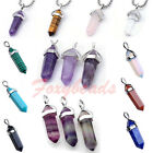 HOT Hexagon Quartz Crystal Healing Point Chakra Reiki Gemstone Pendant DIY Gift