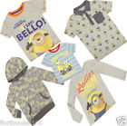 BOYS DESPICABLE ME MINIONS T-SHIRT LONG SLEEVE TOP HOODY 18 24 UPTO 8 YEARS