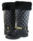 Michael Kors Womens Essex Winter Quilted Strap Buckle Pull On Boots