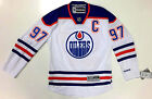 CONNOR MCDAVID EDMONTON OILERS REEBOK PREMIER AWAY WHITE JERSEY WITH C NEW