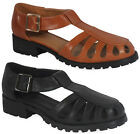 NEW WOMENS LADIES ANKLE STRAP RETRO FASHION GRIP SOLE LOW HEEL SHOE SANDAL SIZE