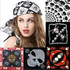Unisex Bandanas Headwrap Pirate Skull Face Mask Funny Halloween Head Scarf - CB