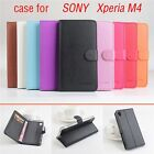 For Sony XPERIA M2 ZR M36H PU Leather Magnetic Wallet Flip Stand Case Skin Cover