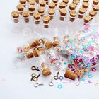 50pcs 0.5ml Vials Clear Glass Bottles with Corks Miniature Glass Bottle 18x10mm