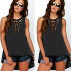 Fashion Women Summer Vest Sleeveless Blouse Casual Hollow Tank #S Tops T-Shirt