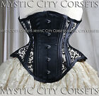 NEW MCC-38 MESH UNDERBUST STEEL BONED CORSET WAIST TRAINING MYSTIC CITY