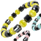 NEW Ladies Hematite Beaded Bright Coloured BRACELET Colourful Holiday Elastic