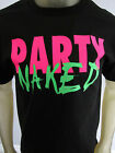 Party Naked Neon beer funny tee shirt men's black choose your size