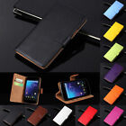 Luxury Genuine Leather Wallet Stand Flip Card Slot Case Cover Protector For LG