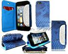 NEW ANIMAL CROCODILE SNAKE PRINT LEATHER STAND FLIP WALLET CASE FOR MOBILE PHONE