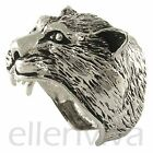 Unique Powerful Wolf Wild Animal BIG Detailed Ring Jewelry Silver Tone rg476sv