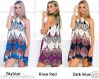Dress Summer Beach Uk Womens Ladies Mini Playsuit Jumpsuit 6 14 Holiday Size UK