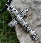 Tribal African Maori Tribe Hawaiian Animal Totem Pole Protection Pewter Pendant
