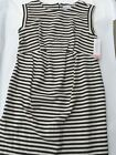 Liz Lange Maternity Sleeveless Elegant Dress Black White Pregnant ( Runs Large)