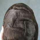 Mens Toupee French Lace Front Hair Replacement System Hairpieces For Men Mono